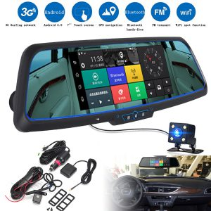 Unboxing Car DVR Android Navigation Mirror Camera basic install and video record test