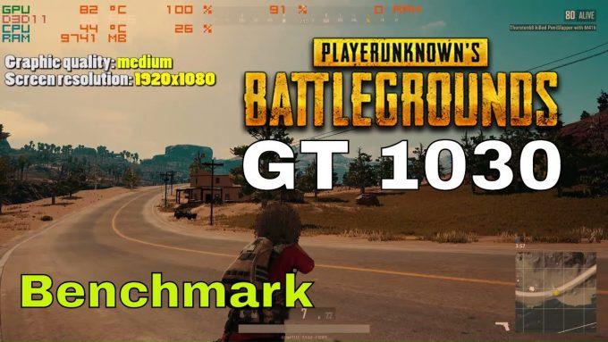 PUBG GT 1030 benchmark – high, medium, low, very low, custom settings fullHD