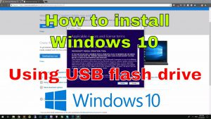 How to install latest Windows 10 using USB flash drive