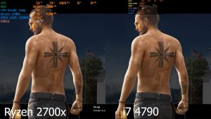 Ryzen 2700x vs i7 4790 Far Cry 5 benchmark GTX 1080 Ti