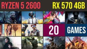 Ryzen 5 2600 | RX 570 4GB Test in 20 GAMES | 1080p