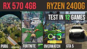 RX 570 4GB | Ryzen 5 2400g Test in 12 GAMES | 1080p