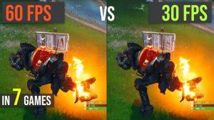 30 FPS vs. 60 FPS test in 7 games