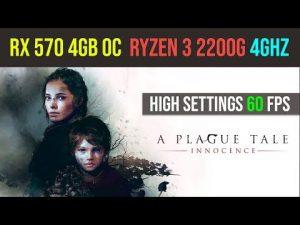 A Plague Tale Innocence gameplay | r3 2200g | RX 570 4GB | High