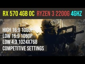 CS:GO competitive settings | r3 2200g | RX 570 4GB | Low | High