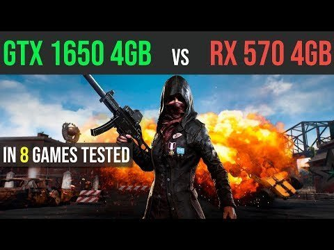 GTX 1650 4GB vs RX 570 4GB test in 8 Games