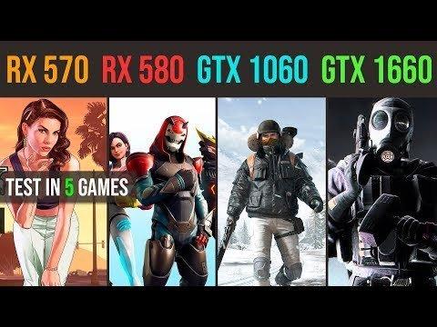 GTX 1660 vs. RX 580 8GB vs. GTX 1060 3GB vs. RX 570 4GB