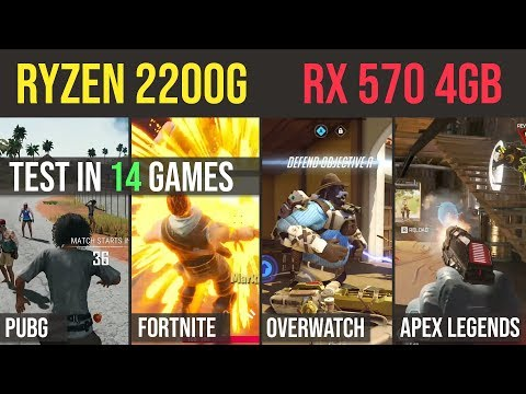 Ryzen 3 2200g  | RX 570 4GB Test in 14 GAMES | 1080p
