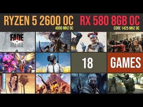 Ryzen 5 2600 OC | RX 580 8GB OC Test in 18 GAMES 2019 | 1080p