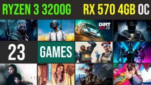 Ryzen 3 3200g | RX 570 4GB Test in 23 GAMES | 1080p