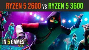 Ryzen 5 2600 vs Ryzen 5 3600 test in 5 games | 1080p