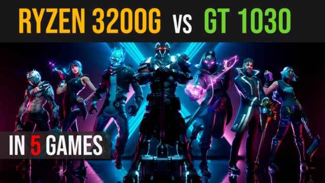 Ryzen 3 3200g vs GT 1030 test in 5 games