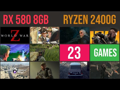 RX 580 8GB | Ryzen 5 2400g Test in 23 GAMES 2019 | 1080p