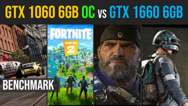 GTX 1060 6GB OC vs GTX 1660 6GB test in 10 games 2019