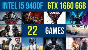 intel i5 9400f | GTX 1660 6GB test in 22 games