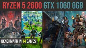Ryzen 5 2600 | GTX 1060 6GB test in 14 games | 1080p