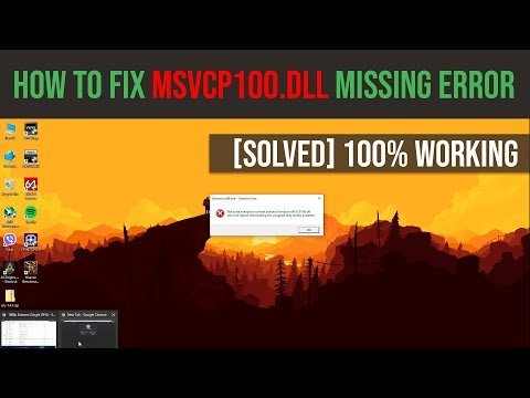 How to fix MSVCP100.dll