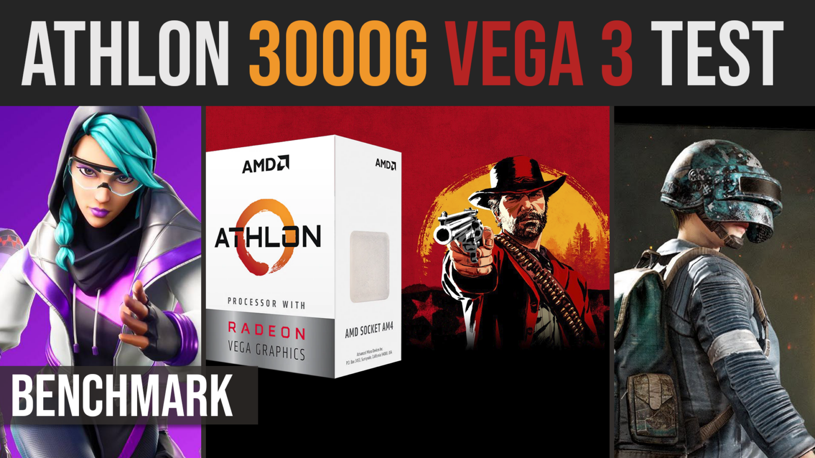 AMD Athlon 3000G | Vega 3 benchmark test in 16 games