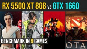 RX 5500 XT 8GB vs. GTX 1660 test in 9 games | 1080p