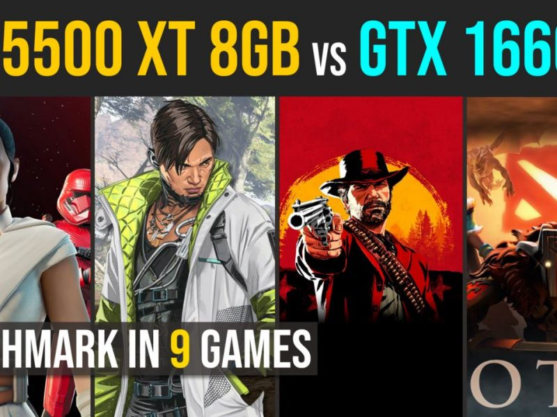RX 5500 XT 8GB vs. GTX 1660 test in 9 games | 1080p
