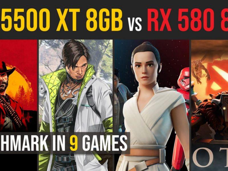 RX 5500 XT 8GB vs. RX 580 8GB test in 9 games | 1080p