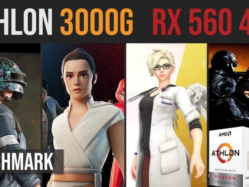 AMD Athlon 3000G | RX 560 4GB test in 12 games | 1080p