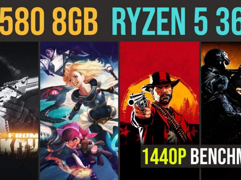 Ryzen 5 3600   RX 580 test in 21 games   1440p