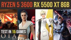 RX 5500 XT 8GB | Ryzen 5 3600 test in 15 games | 1080p