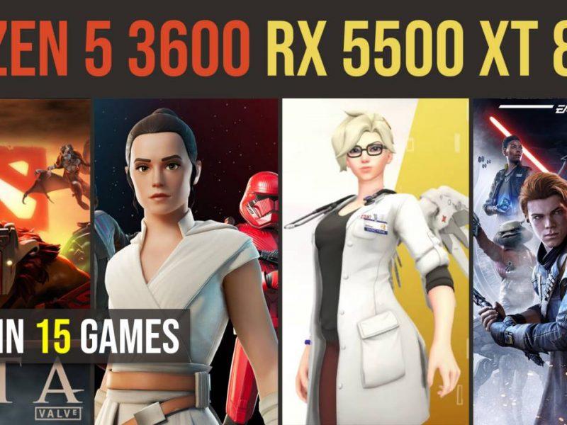 RX 5500 XT 8GB   Ryzen 5 3600 test in 15 games   1080p
