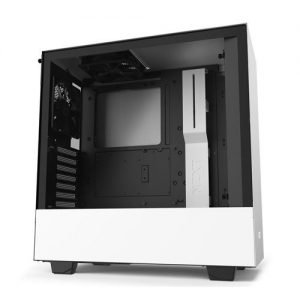 NZXT H Series H510 Matte White Tempered Glass ATX Mid Tower Case CA H510B W1 300x300 - AMD Budget gaming setup $500