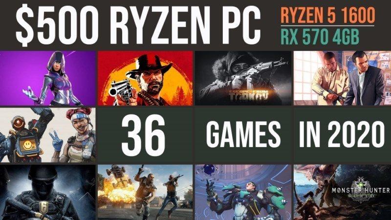 RX 570 | Ryzen 5 1600 in 2020? Test in 36 recent games | 1080p