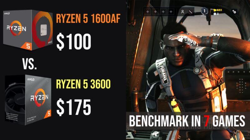 Ryzen 5 1600 AF vs Ryzen 5 3600 test in 7 games 1080p