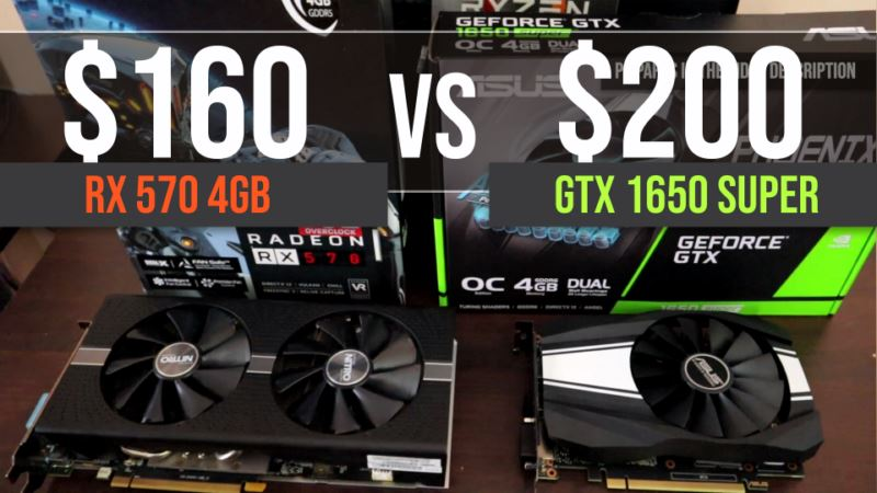 GTX 1650 Super vs RX 570 4GB test in 11 games