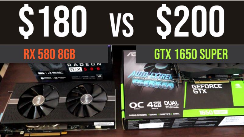 GTX 1650 Super vs RX 580 8GB test in 8 games | 1080p