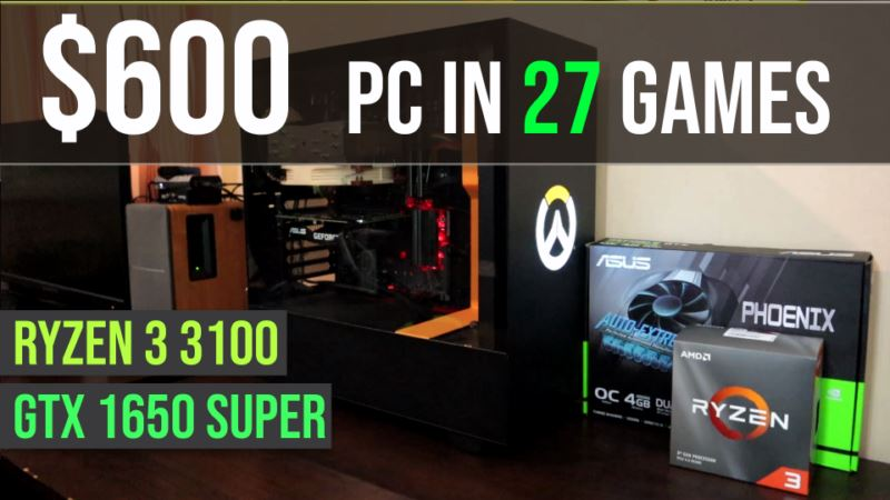 Ryzen 3 3100 | GTX 1650 Super test in 27 games | 1080p