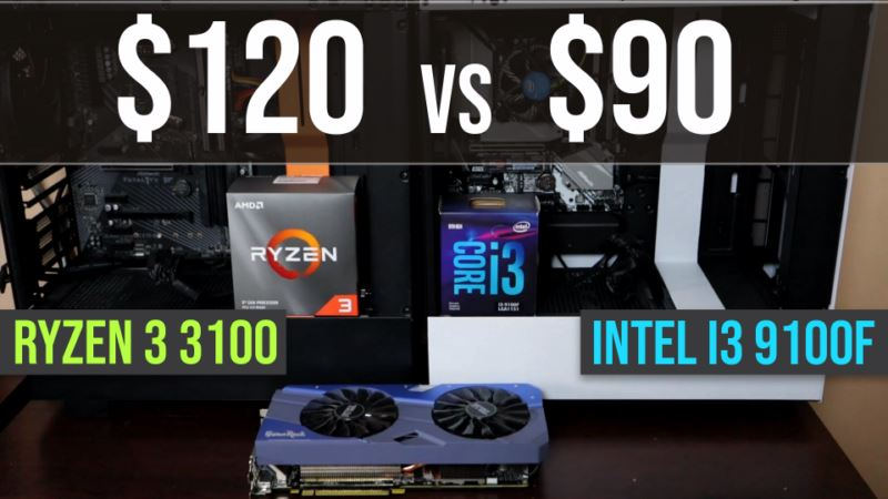 Ryzen 3 3100 vs Intel i3 9100f test in 9 games