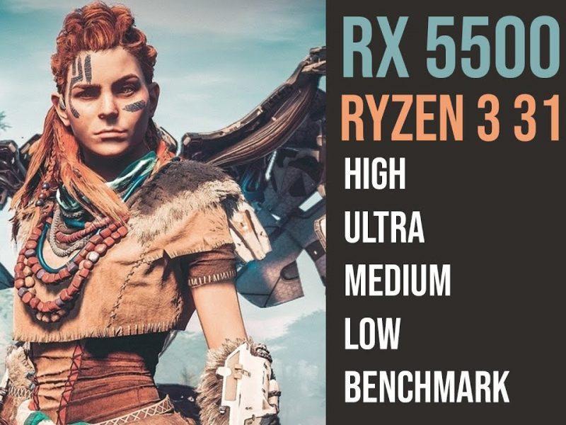 Horizon Zero Dawn Ryzen 3 3100 | RX 5500 XT 8GB | 1080p
