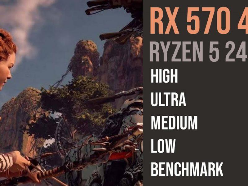 RX 570 4GB |  Ryzen 5 2400g Horizon Zero Dawn  | 1080p