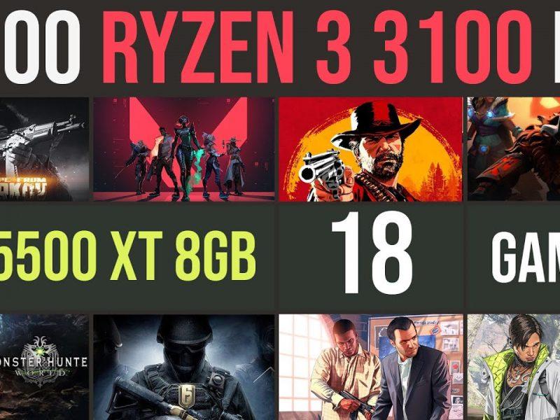 Ryzen 3 3100 | RX 5500 XT test in 18 games | 1080p