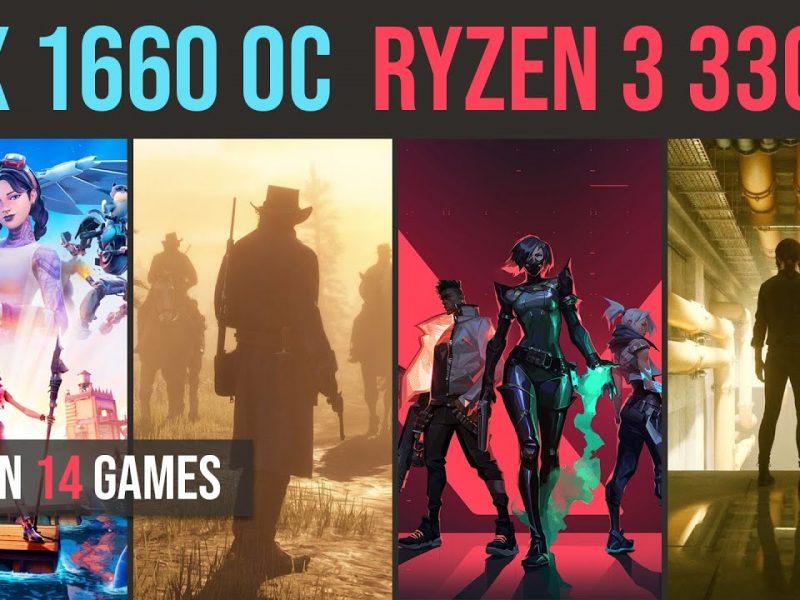 Ryzen 3 3300X | GTX 1660 OC test in 14 games | 1080p