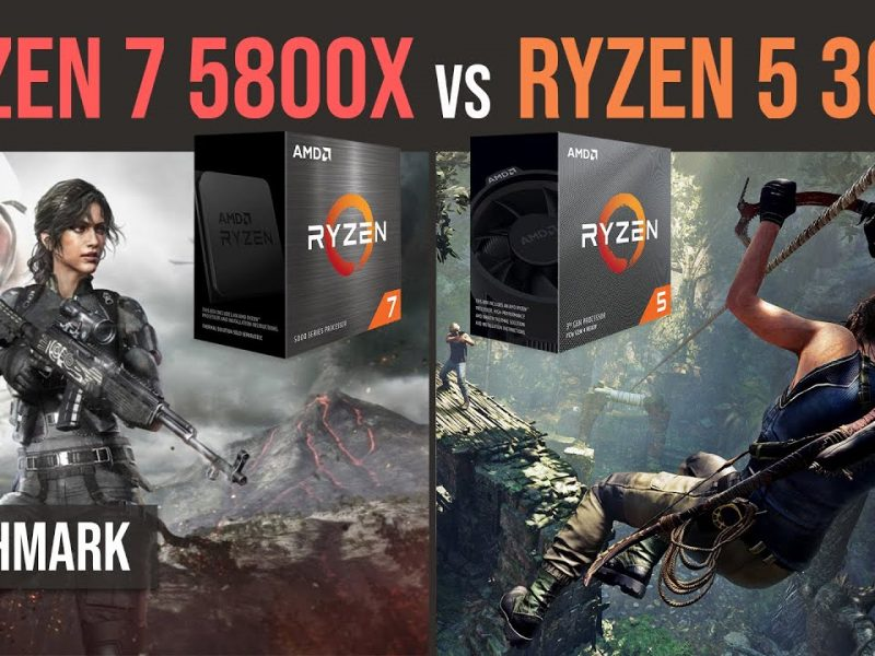 Ryzen 7 5800x vs Ryzen 5 3600 benchmark test