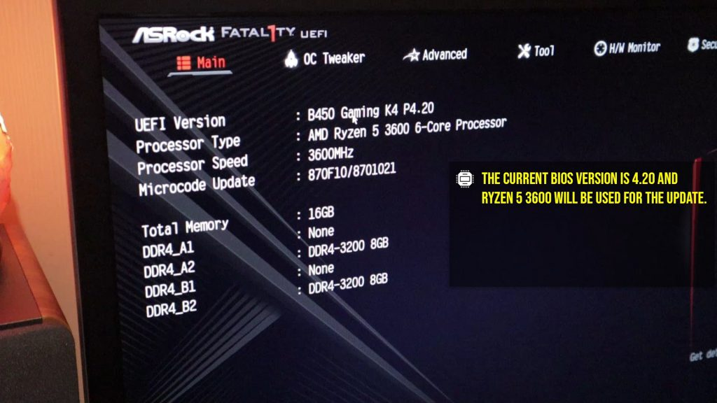 update b450 bios 1 1024x576 - How to update B450 BIOS to support Ryzen 5000 CPUs